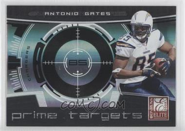 2008 Donruss Elite Prime Targets Black #PT-15 - Antonio Gates /400
