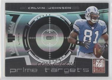 2008 Donruss Elite Prime Targets Black #PT-19 - Calvin Johnson /400
