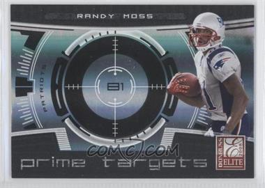 2008 Donruss Elite Prime Targets Black #PT-2 - Randy Moss /400