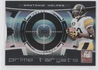 2008 Donruss Elite Prime Targets Black #PT-21 - Santonio Holmes /400