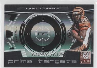 2008 Donruss Elite Prime Targets Black #PT-3 - Chad Johnson /400