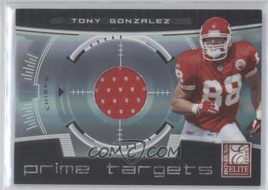 2008 Donruss Elite Prime Targets Jerseys [Memorabilia] #PT-12 - Tony Gonzalez /199