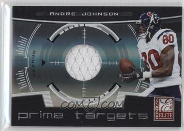 2008 Donruss Elite Prime Targets Jerseys [Memorabilia] #PT-22 - Andre Johnson /199