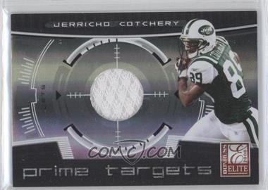 2008 Donruss Elite Prime Targets Jerseys [Memorabilia] #PT-25 - Jerricho Cotchery /199
