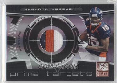 2008 Donruss Elite Prime Targets Jerseys Prime [Memorabilia] #PT-8 - Brandon Marshall /50