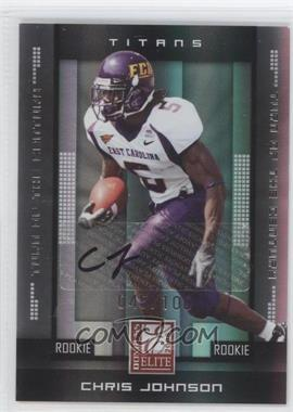 2008 Donruss Elite Rookies Turn of the Century Autographs [Autographed] #120 - Chris Johnson /100