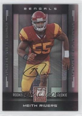 2008 Donruss Elite Rookies Turn of the Century Autographs [Autographed] #187 - Keith Rivers /50