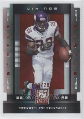 2008 Donruss Elite Status Die-Cut #56 - Adrian Peterson /28