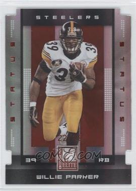 2008 Donruss Elite Status Die-Cut #77 - Willie Parker /39