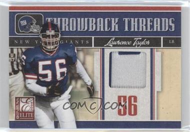 2008 Donruss Elite Throwback Threads Prime #TTS-19 - Lawrence Taylor /50