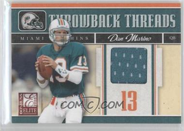 2008 Donruss Elite Throwback Threads #TTS-17 - Dan Marino /199