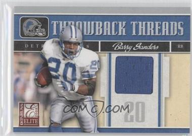 2008 Donruss Elite Throwback Threads #TTS-3 - Barry Sanders /199