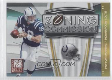 2008 Donruss Elite Zoning Commission Gold #ZC-2 - Peyton Manning /800