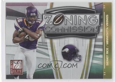 2008 Donruss Elite Zoning Commission Gold #ZC-7 - Sidney Rice /800