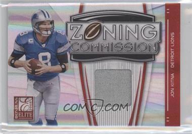 2008 Donruss Elite Zoning Commission Jereys Prime [Memorabilia] #ZC-27 - Jon Kitna /50