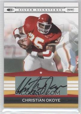 2008 Donruss Silver Signatures #SS-CO - Christian Okoye