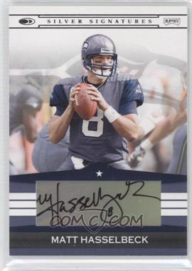 2008 Donruss Silver Signatures #SS-MH - Matt Hasselbeck