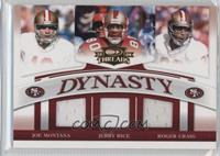 Joe Montana, Jerry Rice, Roger Craig /250