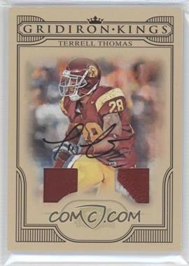 2008 Donruss Threads - College Gridiron Kings - Signature Materials Prime [Autographed] #CGK-34 - Terrell Thomas /15