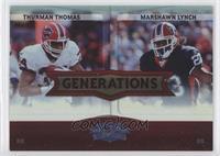 Thurman Thomas, Marshawn Lynch /100