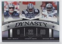 Troy Aikman, Emmitt Smith, Michael Irvin /100