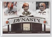 Cedric Benson, Jim Brown, Otto Graham, Lou Groza /235
