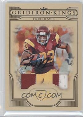 2008 Donruss Threads College Gridiron Kings Signature Materials Prime [Autographed] #CGK-16 - Fred Davis /15