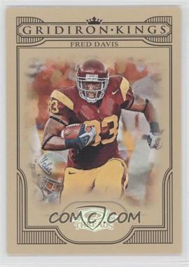 2008 Donruss Threads College Gridiron Kings Silver #CGK-16 - Fred Davis /250