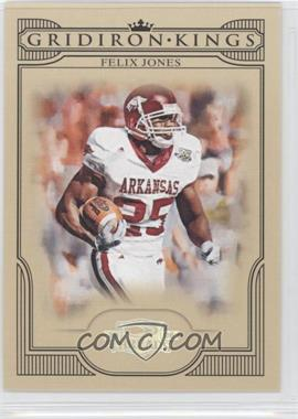 2008 Donruss Threads College Gridiron Kings Silver #CGK-42 - Felix Jones /250