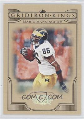 2008 Donruss Threads College Gridiron Kings Silver #CGK-46 - Mario Manningham /250
