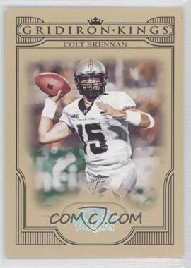 2008 Donruss Threads College Gridiron Kings Silver #CGK-8 - Colt Brennan /250