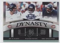 Mike Singletary, Jim McMahon, Walter Payton /100