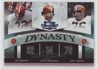 Jim Brown, Otto Graham, Lou Groza /100