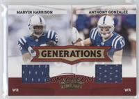 Anthony Gonzalez, Marvin Harrison /250