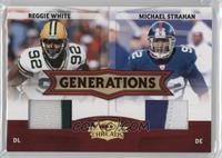 Michael Strahan, Reggie White /50