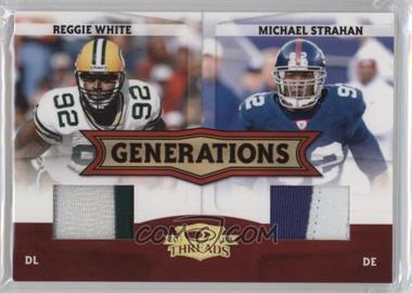 2008 Donruss Threads Generations Materials Prime [Memorabilia] #G-15 - Michael Strahan, Reggie White /50