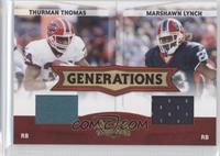 Thurman Thomas, Marshawn Lynch /250