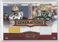 Sterling Sharpe, Greg Jennings /250