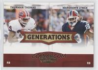 Thurman Thomas, Marshawn Lynch