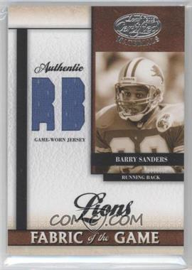 2008 Leaf Certified Materials - Fabric of the Game - Postion #FOG-3 - Barry Sanders /50