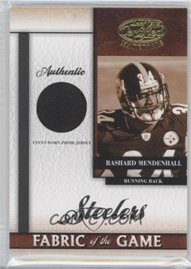 2008 Leaf Certified Materials - Rookie Fabric of the Game - Die-Cut Team Logo Prime #RFOG-8 - Rashard Mendenhall /25