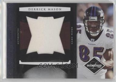 2008 Leaf Limited - Jumbo Jerseys #8 - Derrick Mason /50