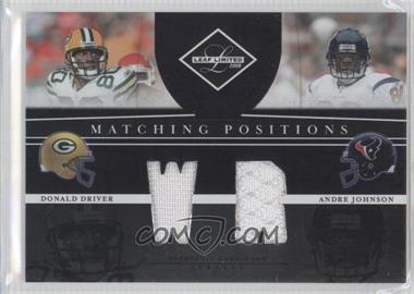 2008 Leaf Limited - Matching Positions #MP-15 - Donald Driver, Andre Johnson /100