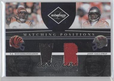 2008 Leaf Limited - Matching Positions #MP-18 - Joey Galloway, T.J. Houshmandzadeh /100