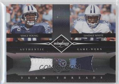 2008 Leaf Limited - Team Threads Combos - Prime #TTC-5 - LenDale White, Vince Young /25