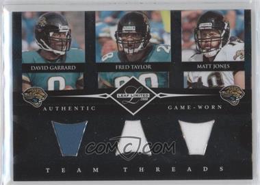 2008 Leaf Limited - Team Threads Triples #TTT-1 - David Garrard, Matt Jones, Fred Taylor /100