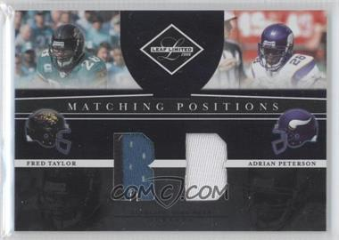 2008 Leaf Limited [???] #MP-11 - Adrian Peterson, Fred Taylor /100