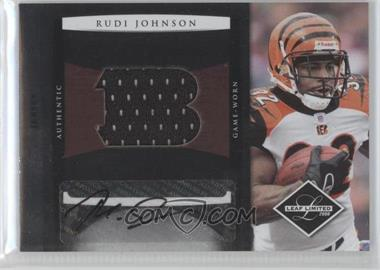 2008 Leaf Limited Jumbo Jerseys Team Logo Signatures [Autographed] #15 - Rudi Johnson /10
