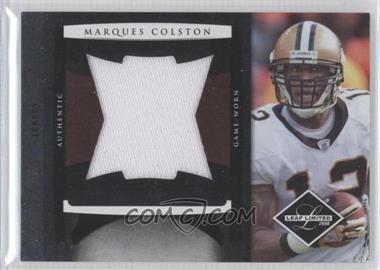 2008 Leaf Limited Jumbo Jerseys #12 - Marques Colston /50