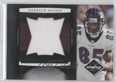 2008 Leaf Limited Jumbo Jerseys #8 - Derrick Mason /50